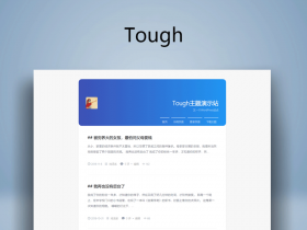 文字博客WordPress主题:Tough