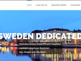 SwedenDedicated:€24年付/1H/2GB/100GB/800GB流量/LXC架构/瑞典机房