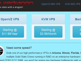 SecureDragon:大硬盘大流量特价优惠/2H/4G/1000GB/10TB/$5.99月付
