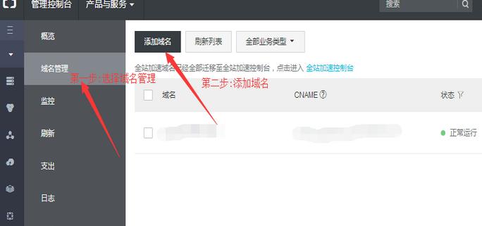 阿里云cdn域名配置