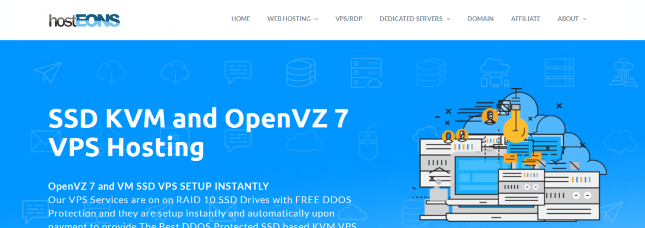 HostEONS:KVM VPS,100Mbps端口、不限流量;买一送一VPS,洛杉矶/纽约机房
