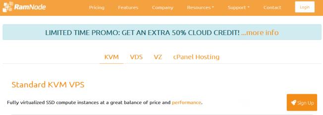 Ramnode:月付3美元/1H/512MB/10GB SSD/1TB/KVM/洛杉矶/西雅图/荷兰等机房