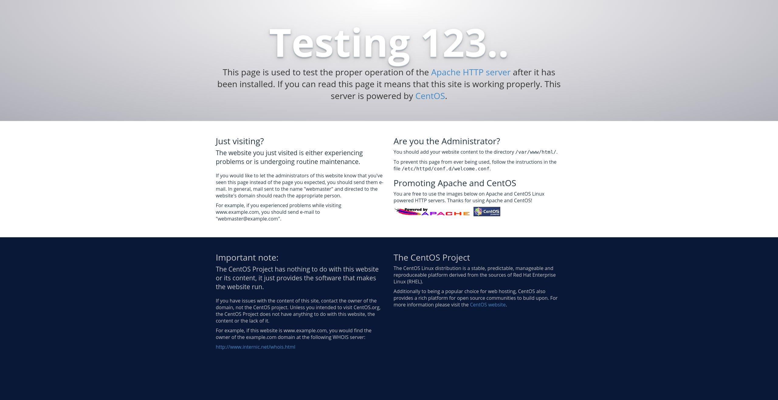 CentOS7安装apache新手入门详细教程