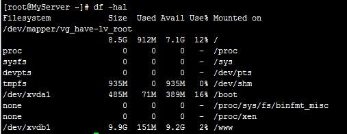 Linux VPS挂载硬盘到数据盘的方法