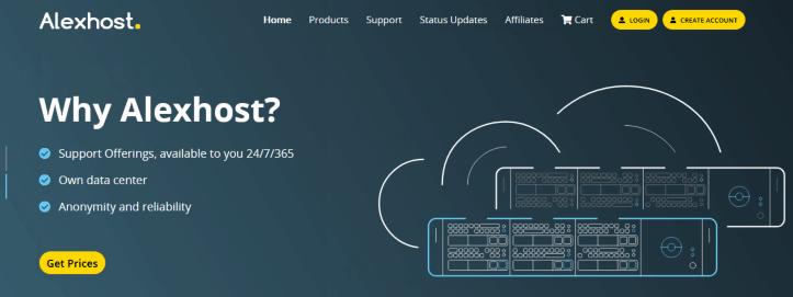 AlexHost:€11.88年付/1H/1.5GB/10GB/100Mbps不限流量/KVM/摩尔多瓦机房
