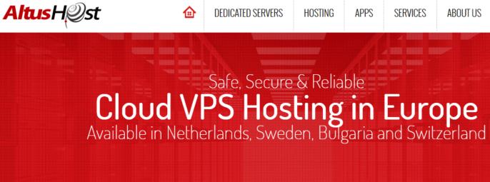 AltusHost:€14.96月付/2H/2GB/40GB SSD/4TB/KVM/瑞士/瑞典/荷兰等机房