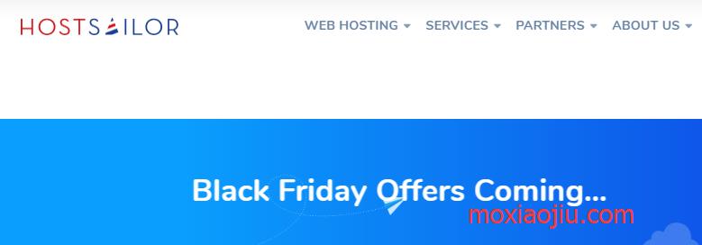 HostSailor黑五优惠:VPS优惠65%还有大硬盘VPS七折/虚拟主机/独立服务器等活动